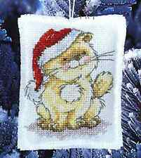 """Solo's Christmas Hat Decoration Cross Stitch Kit - Anchor - 3.75"""" x 2.75"""""""