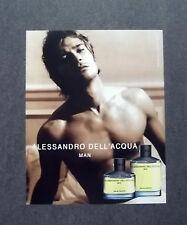 [GCG] K126- Advertising Pubblicità -2003- ALESSANDRO DELL'ACQUA , MAN PARFUM