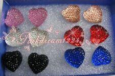 Lots 30Pairs Color Heart Rharming Modern Rosin Earring fashion drop shipping