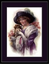 English Picture Print Pekingese Dog Victorian Art Poster