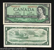 CANADA $1 DOLLAR P75 B 1954 *REPLACEMENT QUEEN UNC CURRENCY MONEY BILL BANK NOTE