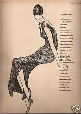 60's Betty Brader Illustrated Joseph Magnin &  Elizabeth Arden  Ads