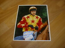 Graham Bradley horse racing NH jockey 07/12/95 original main Photo de presse signé