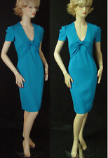 NWT ST JOHN CERULEAN MILANO KNIT DRESS SZ 2  FITTED DESIGN  SHORT SLEEVES  sale