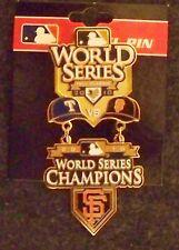 2010 Rangers SF San Francisco Giants Champions World Series dangle pin dangling