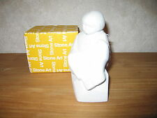 MARBELL STONE ART *NEW* Statue pierre blanche Enfant avec livre HxL:15x8cm