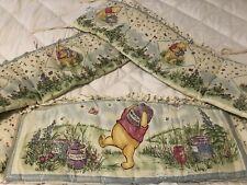 Disney Winnie The Pooh Classic Crib Bed Bumper Honey Pots VTG