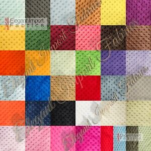 """MINKY MINKEE CHENILLE DOT SOFT FABRIC CUDDLE 42 COLOR 60""""W SEW CRAFT BY THE YARD"""
