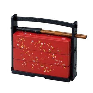 HAKOYA Japanese Traditional Bento Lunch Box 3-Tier Cherry Blossoms Design NEW