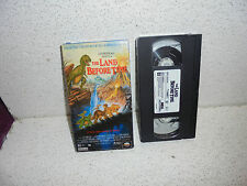 The Land Before Time VHS Video Out Of Print ( Dinosaur Cartoon )
