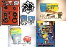 Suzuki RM 125 97 Mitaka Engine Rebuild Kit Rod Piston C Mains Gasket Seal Kit