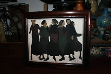 Vintage Jewish Painting On Board-Signed Inez Fol-1967-6 Jewish Woman Dancing