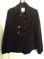OLD NAVY BLACK PEA COAT SIZE TEEN SMALL USED