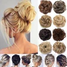 Natural Messy Rose Bun Scrunchie Hair Extensions Updo As Human Blonde Hairpiece