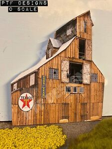"""* O Scale Scratch Built """"Tall Barn"""" Farm Building Front/Flat, MTH Lionel * NEW!"""