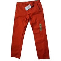 Dockers Men's Alpha Khakis Size 31W 30L Red 100% Cotton Slim Tapered