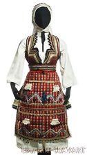 MACEDONIAN FOLK COSTUME Skopje ethnic dress embroidered blouse vest apron belt