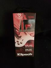 Klipsch Image S3m Noise Isolating Earbuds iPhone & Android - RED New in Box