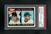 1965 TOPPS #477 CARDINALS ROOKIE STARS STEVE CARLTON RC PSA 8 NM/MT++SHARP CARD!