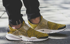 NIKE AIR 2017 Sock Dart QS Gold Black White Safari Pack BR UK 10 EXCLUSIVE! SALE