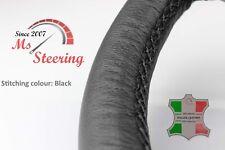 FITS SAAB 9-5 AERO 11-11 BLACK LEATHER STEERING WHEEL COVER CHOSEN COLOUR STIT
