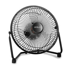 9-INCH Large-Size Desk/Table Fan Metal Cooling USB Quiet Adjustable Home/Office