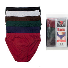 3 Pack Mens Bikinis Briefs Underwear 100% Cotton Solid Knocker Size Medium 32-34