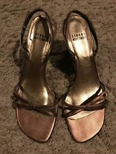 Gently Used and Previously Loved Stuart Weitzman Bronze Sandals Size 7.5M