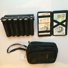 TAXI Nero portamonete Cash Dispenser MAGIC WALLET MAN BAG Combo Drive Taxi Bus
