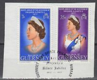 Guernsey 1977 Θ Mi.145/46 Regentschaft Silver Jubilee Queen Elizabeth [sq7126]