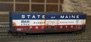 HO Custom Decaled, Weathered/Detailed Intermountain Box Car - BAR State of Maine