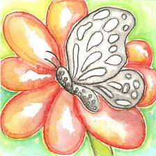 BUTTERFLY INSECT ART watercolor unique art work paintings cute modern kids art