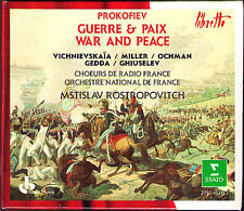 PROKOFIEV: WAR AND PEACE Galina Vishnevskaya Gedda Ghiuselev ROSTROPOVICH 4CD