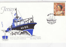 Jersey 1975 Visit of Queen Mother FDC Unaddressed VGC
