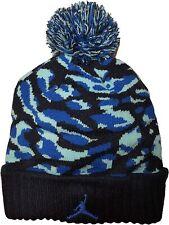 NIKE AIR JORDAN JUMPMAN Youth Knit Cap Camo Pom Beanie Winter Hat Ages 8-20