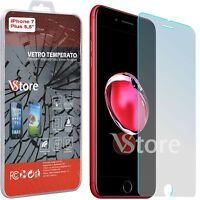 "Pellicola Vetro Temperato Per iPhone 7 7S Plus 5,5"" Proteggi Salva Schermo"