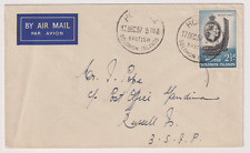 BRITISH SOLOMON ISLANDS  1957: 2½d QE defin on cover · inter-island airmail rate