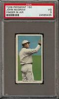 1909-11 T206 HOF John McGraw Finger In Air Piedmont 150 New York PSA 3 VG Nice