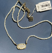 NWT Kendra Scott Elisa Beaded Pendant Necklace White MOP $75.00