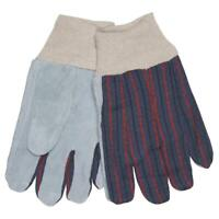 Mens MCR Safety 1030 Knit Wrist Clute Pattern Unlined Leather Palm Work Gloves