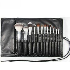 Rolling Up Pouch Leather Makeup Brush Bag Cosmetic Organizer Holder For Travel Z