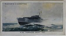 VINTAGE MODERN NAVAL CRAFT PLAYER TOBACCO #17 TORPEDO BOAT CARD       (INV12970)
