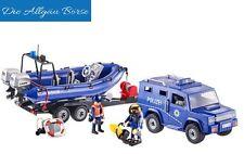 Playmobil 9396 Bundespolizei Truck m. Schnellboot Sonderedition Polizei Police