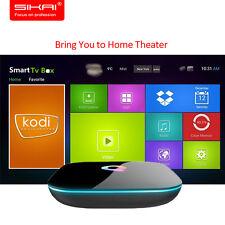 QBOX 8GB 2GB 4K UHD WIFI K 17.3 Android 6.0 Smart TV BOX S905X Media Streamers