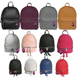Mini Backpack Girls Ladies Women School Handbag Small Rucksack Bag Work College