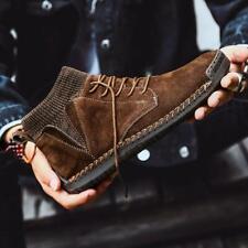 Men's Winter Warm Cotton Shoes Non-slip High Top Sneakers Snow Boots Big Size 48
