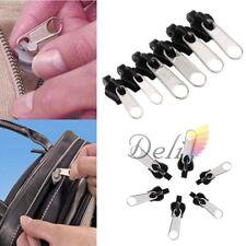 6 Pcs Zipper Tête Réparation Remplacement Fermeture Éclair Glissière Veste Jeans