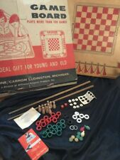 Vintage Carrom Game Board w/ pieces, box and book. 1966