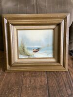 Pre-owned wood framed painting signed by H. GAILEY