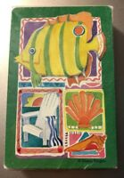 VIntage Graphica Playing Cards Fish Shells Beach Sealed Deck Swap